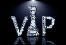 Diamonds VIP chess card. Vector illustration Royalty Free Stock Photography