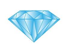 Diamonds on white background Royalty Free Stock Images