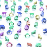 Diamonds on a white background Stock Images