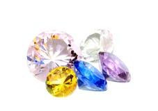Diamonds on white Stock Photography