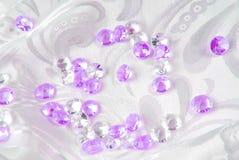 Diamonds on white Stock Photo