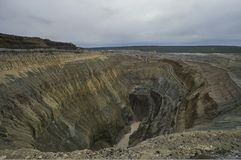 The diamontiferous mine. Aykhal. Sakha-Yakutia. Russia Stock Images