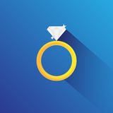 Diamord Ring Flat Vector Royalty Free Stock Image