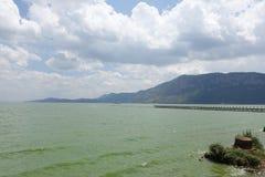 Dian Chi,Kunming Chi,Tien Lake in kunming china. View of Kunming, China, with Dian Chi Lake stock images