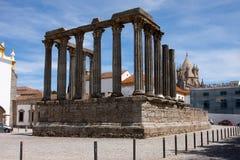 diana świątynia Evora Portugal Fotografia Royalty Free