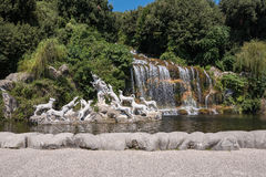 Diana and Actaeon Fountain in the Royal Garden, Caserta Royalty Free Stock Image