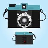 Diana Camera vintage. Blue black Stock Photo