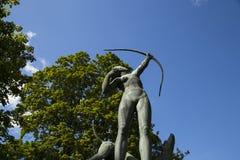 Diana en la escultura de la caza en el gavle Suecia foto de archivo