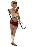 Diana the Grecian goddess with bow and arrows Stock Photography