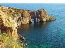 Diana-Grotte im Schwarzen Meer, Ukraine stockfotografie