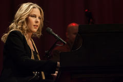 Diana Krall in concert. Royalty Free Stock Images