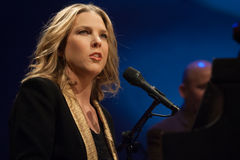 Diana Krall in concert. Stock Photography