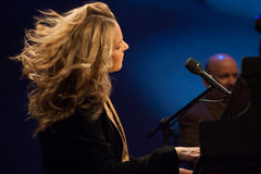 Diana Krall in concert. Royalty Free Stock Photography