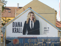 Diana Krall gig ad in Brno Royalty Free Stock Image