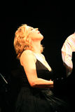 Diana Krall live performance royalty free stock photography