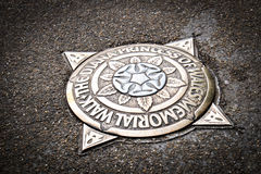 Diana Princess de plaque commémorative de promenade du Pays de Galles dans St James Park London England R-U Images stock