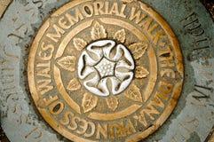 Diana Princess della placca commemorativa della passeggiata di Galles, Lond Fotografie Stock Libere da Diritti