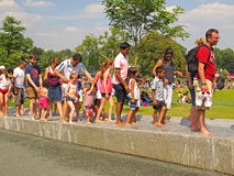 The Diana Princess of Wales Memorial Fountain Royalty Free Stock Photo