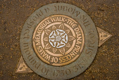 Diana Princess of Wales Memorial Walk, Hyde Park, London, Englan. Diana Princess of Wales Memorial Walk sign in Hyde Park, London, Englan Royalty Free Stock Photo