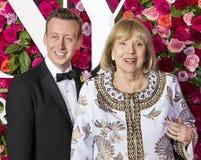 Diana Rigg chez Tony Awards 2018 Photo stock