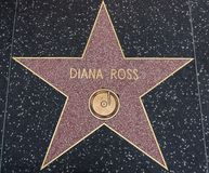 Diana Ross star on the Walk of Fame stock image