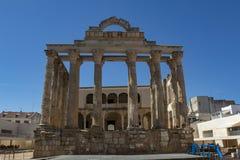 Diana ` s świątynia, rzymski dziedzictwo w Merida, Hiszpania zdjęcie stock