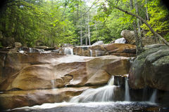Diana's Baths, New Hampshire. Waterfalls, cascades, and pools of Diana's Baths in the White Mountains of New Hampshire Stock Image