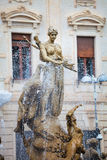 Diana's fountain with water splashing. Italy Stock Photography