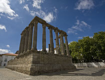 Diana�s temple. Diana�s temple in Evora portugal royalty free stock photography