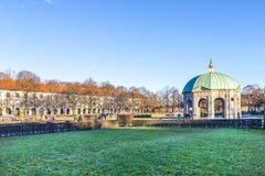 Diana tempel i den Munich Tyskland i det Hofgarden området Royaltyfria Foton