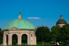 Diana Temple at Court Garden Hofgarten. Munich, Germany. August 21, 2018. Diana Temple at Court Garden Hofgarten stock image