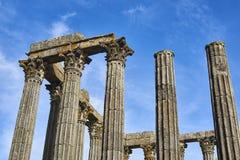 Diana temple in Evora, Alentejo. Portugal. royalty free stock image