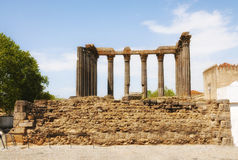 Diana Temple in Evora Stock Images