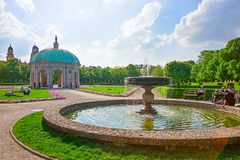 Diana temple at Hofgarten park in Munich. In spring, Germany royalty free stock images