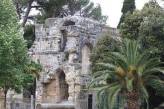 Diana Temple in Jardins de la Fontaine, Nîmes, France Stock Photography