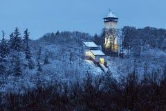 Diana Tower in Karlovy Vary Royalty Free Stock Photos