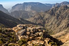 Diana Viewpoint Oman Mountains chez Jabal Akhdar Al Hajar Mountains images stock