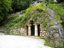 Dianas洞穴。Pyatigorsk地标,北Caucas 库存图片