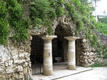 Dianas洞穴。Pyatigorsk地标,北Caucas 免版税库存照片