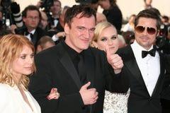 Diane Kruger, Brad Pitt, Quentin Tarantino y yo fotos de archivo