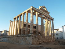 diane merida spain tempel Arkivbild