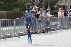 Diane Nukuri Burundi races in the Boston Marathon on April 17, 2017 Royalty Free Stock Images