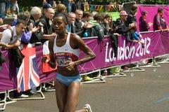 Diane Nukuri que quebra o registro nacional Foto de Stock Royalty Free