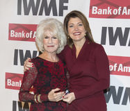 Diane Rehm and Norah O'Donnell stock images