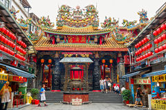 Dianji Temple has been among the city most iconic religious sites since 1875 and is famous for its stone statues of marine life. Royalty Free Stock Photo