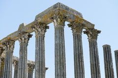 Dianna Temple in Evora. Ancient roman temple in the old city of Stock Photography