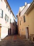 Diano Castello, дороги и улицы Стоковые Фотографии RF