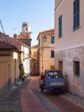 Diano Castello, strade e vie Immagine Stock