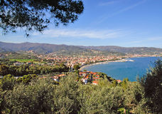 Diano Marina,italian Riviera. View of Diano Marina,a seaside Resort on the italian Riviera Stock Images