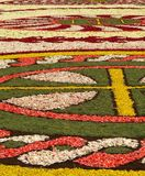 Diano Marina, Italy - June 10, 2007: Infiorata Lig. During the eve of the religious feast of Corpus Christi, including the night, the streets are depposti the Stock Photos